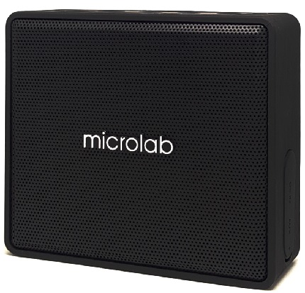 MICROLAB Φορητό ηχείο D15, bluetooth/3.5mm/SD Card, 3W RMS, μαύρο