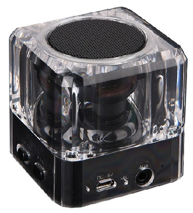 Bluetooth Speaker POWERTECH PT-404, Portable, 3W, Led Light, Black
