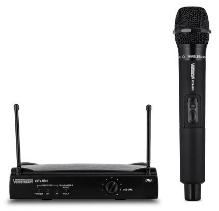 Σετ ασύρματο μικρόφωνο με βάση, VOICE KRAFT VKTM-UF01 jack 6.3mm, μαύρη